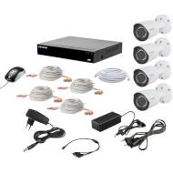 Комплект видеонаблюдения TECSAR QHD 2MP 4Cam (12016)