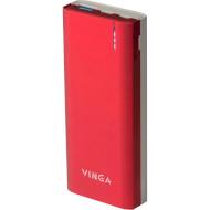 Портативное зарядное устройство VINGA BTPB3810QCRO Red (10000mAh)