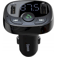 FM-трансмиттер BASEUS T-typed MP3 Car Charger w/Car Holder Standard Edition Black