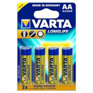 Батарейка VARTA Longlife AA 4шт/уп (04106 101 414)