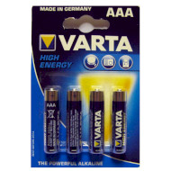 Батарейка VARTA High Energy AAA 4 шт./уп. (04903121414)
