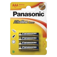 Батарейка PANASONIC Alkaline Power AAA 4шт/уп (LR03REB/4BPR)