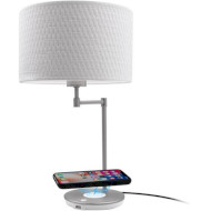 Лампа настольная MACALLY LED Table Lamp with Wireless Charging and USB Port (LAMPCHARGEQI-E)