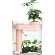 Аквариум XIAOMI HFJH Geometry Amphibian Aquaponics Ecosystem Youth Edition Pink (HF-JHYGZH002)