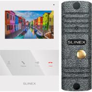 Комплект відеодомофона SLINEX SQ-04 White + ML-16HR Gray Antiq