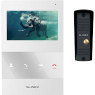 Комплект відеодомофона SLINEX SQ-04M White + ML-16HR Black