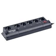 Сетевой фильтр-удлинитель ENERGENIE EG-PMS2-LAN Black 1.8м