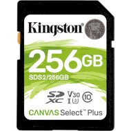 Карта памяти KINGSTON SDXC Canvas Select Plus 256GB UHS-I U3 V30 Class 10 (SDS2/256GB)