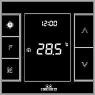 Сенсорний термогулятор Z-Wave програмований MCOHome Z-Wave Black (MH7H-WH BLACK)