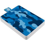 Портативный SSD SEAGATE One Touch 500GB Camo Blue (STJE500406)