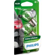 Лампа накаливания PHILIPS LongLife EcoVision P21/5W 2шт (12499LLECOB2)
