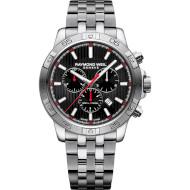 Часы RAYMOND WEIL Tango 43mm Chronograph Black Red Steel (8560-ST2-20001)