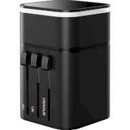 Переходник сетевой BASEUS Removable 2in1 Universal Travel Adapter PPS Quick Charger Edition Black (TZPPS-01)