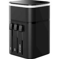 Перехідник мережевий BASEUS Removable 2in1 Universal Travel Adapter PPS Quick Charger Edition Black (TZPPS-01)