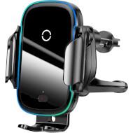 Автодержатель для смартфона с беспроводной зарядкой BASEUS Light Electric Holder Wireless Charger Black (WXHW03-01)