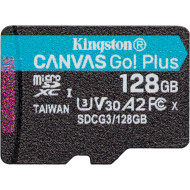 Карта памяти KINGSTON microSDXC Canvas Go! Plus 128GB UHS-I U3 V30 A2 Class 10 (SDCG3/128GBSP)