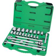 """Набор торцевых головок TOPTUL Dr. Flank Socket Set Professional Grade 1/2"""" 24пр (GCAI2411)"""