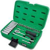 """Набор торцевых головок TOPTUL Dr. Flank Socket Set Professional Grade 1/4"""" 24пр (GCAI2403)"""