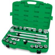 """Набор торцевых головок TOPTUL Dr. Flank Socket Set Professional Grade 3/4"""" 21пр (GCAI2102)"""