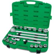 """Набор торцевых головок TOPTUL Dr. Flank Socket Set Professional Grade 3/4"""" 21пр (GCAI2104)"""