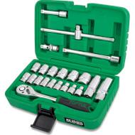 """Набор торцевых головок TOPTUL Dr. Flank Socket Set Professional Grade 3/8"""" 22пр (GCAI2202)"""