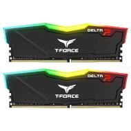 Модуль памяти TEAM T-Force Delta RGB Black DDR4 3200MHz 32GB Kit 2x16GB (TF3D432G3200HC16CDC01)