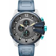 Часы DIESEL Mega Chief Chronograph Watch In Blue Silicone (DZ4487)