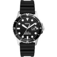 Часы FOSSIL FB-01 Three-Hand Date Black Silicone (FS5660)