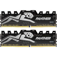 Модуль памяти APACER Panther Black/Silver DDR4 3200MHz 16GB Kit 2x8GB (AH4U16G32C08Y7VAA-2)