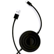 Бездротовий зарядний пристрій USAMS Wireless Charger + Lightning cable Black (CC96WH01)