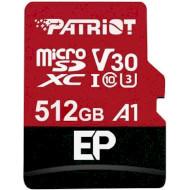 Карта памяти PATRIOT microSDXC EP 512GB UHS-I U3 V30 A1 Class 10 + SD-adapter (PEF512GEP31MCX)
