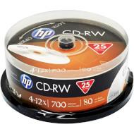 CD-RW HP 700MB 4-12x 25pcs/spindle (69313/CWE00019-3)