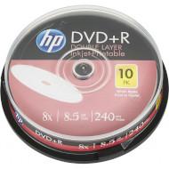 DVD+R DL HP Inkjet Printable 8.5GB 8x 10pcs/spindle (69306/DRE00060WIP-3)