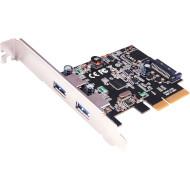 Контролер STLAB U-1780 PCI-E to USB 3.0 2-Ports