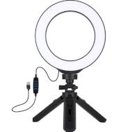 """Кольцевая LED лампа PULUZ PKT3059B 6.2"""""""