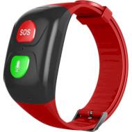 Часы-телефон для пожилых людей GOGPS M03 Black/Red