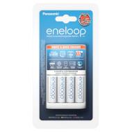 Зарядное устройство PANASONIC Eneloop Smart & Quick BQ-CC55E + Eneloop 4 x AA 1900 mAh (K-KJ55MCC40E)/Уценка