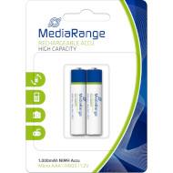 Аккумулятор MEDIARANGE Rechargeable AAA 1000мАч 2шт/уп (MRBAT122)