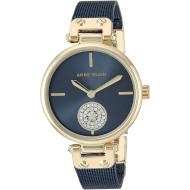 Часы ANNE KLEIN Swarovski Crystal Accented Mesh Bracelet Blue/Gold (AK/3001GPBL)