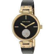 Часы ANNE KLEIN Swarovski Crystal Accented Mesh Bracelet Gold/Black (AK3001BKBK)