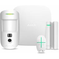Комплект охоронної сигналізації AJAX StarterKit Cam Plus White (000019854)