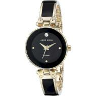 Часы ANNE KLEIN Women's Diamond-Accented Bangle Black/Gold (AK/1980BKGB)