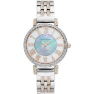 Часы ANNE KLEIN Considered Women's Solar Powered Swarovski Crystal Accented Bracelet (AK/3633MPRT)