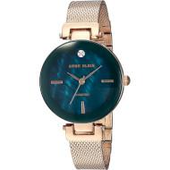 Часы ANNE KLEIN Women's Diamond-Accented Rose Gold-Tone Mesh Bracelet (AK/2472NMRG)
