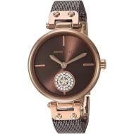Часы ANNE KLEIN Swarovski Crystal Accented Mesh Bracelet Rose Gold/Brown (AK/3001RGBN)