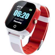 Часы-телефон детские LEMFO DF50 Ellipse Aqua White/Red