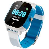 Годинник-телефон дитячий LEMFO DF50 Ellipse Aqua White/Blue