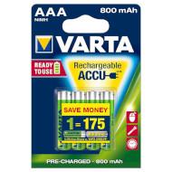 Аккумулятор VARTA Rechargeable Accu AAA 800mAh 4шт/уп (56703 101 404)