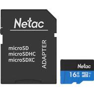 Карта памяти NETAC microSDHC P500 Standard 16GB UHS-I Class 10 + SD-adapter (NT02P500STN-016G-R)