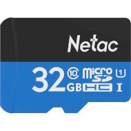 Карта памяти NETAC microSDHC P500 Standard 32GB UHS-I Class 10 + SD-adapter (NT02P500STN-032G-R)